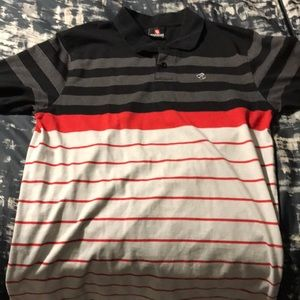 Black, red and gray SouthPole polo